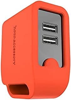 Hoco Wall Charger, 2 USB Ports, Red
