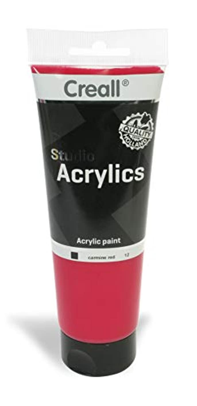 American Educational Products A-33612 Creall Studio Acrylics Tube, 250 mL, 12 Carmine Red