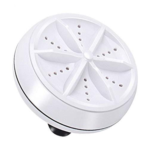 Mini Lavadora Ultrasónica Portátil Turbo Personal Lavadora Giratoria Blanca Versión Automática