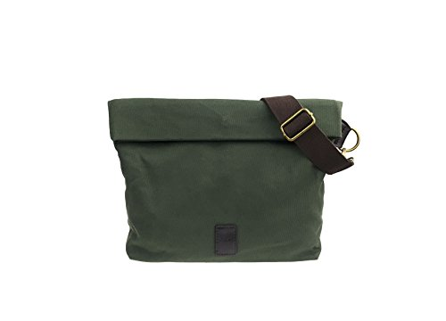 Canvas Shoulder Bag Classic Cross body Sling Bag Messenger Bag for Daily Using Etc (Dark green)