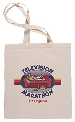 Wigoro Television Marathon Champion - Bingewatcher Bolsa De Compras Tote Beige Shopping Bag