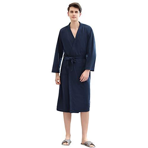 Xiang Ru Albornoz para hombre, súper suave, kimono con bolsillos, gran regalo para hombres, hogar, spa, hotel
