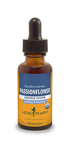 Herb Pharm Certified Organic Passionflower Extract for Mild and Occasional Anxiety - 1 Ounce