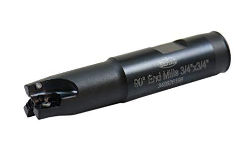Shars Tool 3/4 Inch Cutting Diameter 3 Flute 90 Degree End Mill Cutter for APKT 1003 Insert 404-1862 P[