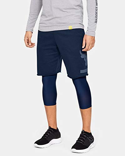 Under Armour Short x Project Rock Terry da Uomo Blu Navy S