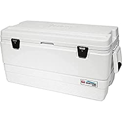 in budget affordable Igloo Marine Ultra 94 Quart Cooler, White