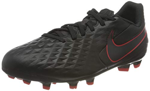Nike Jr. Legend 8 Academy FG/MG, Zapatillas de fútbol Americano, Black Dark Smoke Grey Chile Red Chile Red, 30.5 EU