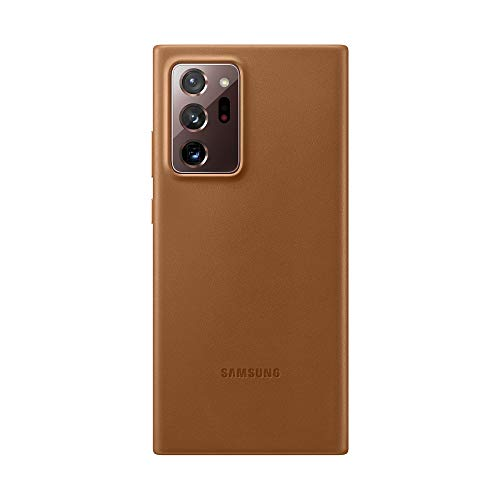 Samsung Leather Smartphone Cover EF-VN985 für Galaxy Note20 Ultra 5G Handy-Hülle, echtes Leder, Schutz Hülle, stoßfest, premium, braun