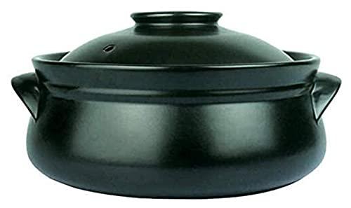 YANJ Cazuela de cerámica con Tapa, Olla de Barro, Utensilios de Cocina, Olla de Barro, Olla de cerámica, cazuela de cerámica, Resistencia a Altas temperaturas, conducción de Calor rápid