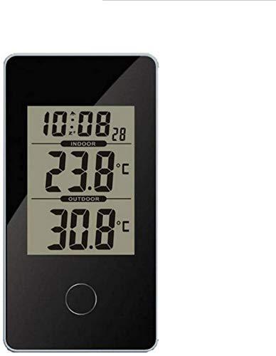 aipipl Thermomètre de réveil LCD numérique Multifonction Thermomètre électronique Station météo intérieure avec rétro-éclairage de Chevet