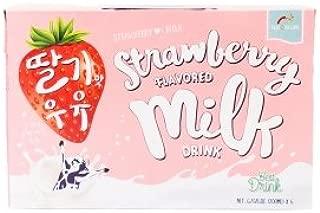 Haioreum Strawberry Flavored Milk Drink, 6 Packs