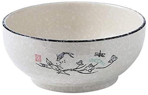Cuenco de cerámica Cuenco de Restaurante Creativo japonés vajilla Cuenco de Fideos de cerámica Restaurante de Fideos Cuenco de Ramen de Carne Cuenco de Sopa Espesada en casa
