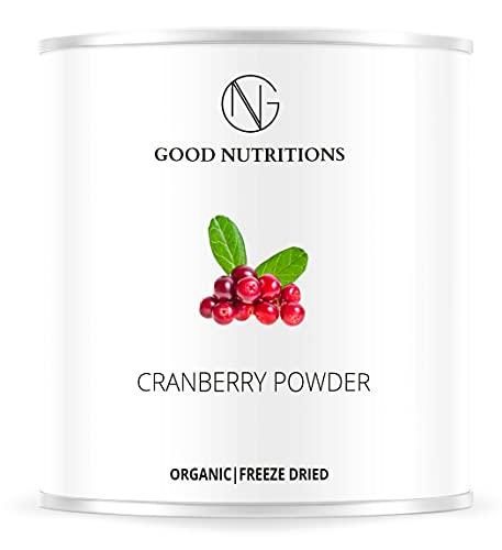 Arándano Rojo en Polvo - Liofilizado|biológico|vegano|crudo|pura fruta|no aditivo|rica en vitamina|Good Nutritions 60g