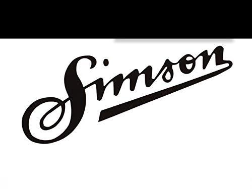 SUPERSTICKI Simson Schriftzug ca 20cm Motorrad Aufkleber Bike Auto Racing Tuning aus Hochleistungsfolie Aufkleber Autoaufkleber Tuningaufkleber Hochleistungsfolie für alle glatten Flächen U