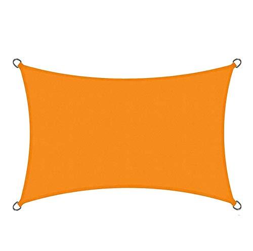 QI-CHE-YI Schatten-Tuch, wasserdichtes Sonnenschutz-Segel, Balkon im Freien Home-Markise im Freien,Orange,3x4m