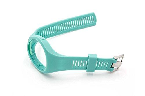 vhbw TPE Ersatz Armband 25cm passend für Polar M200 Fitness Uhr, Smart Watch - türkis