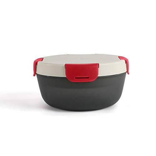 Fiambrera con acumulador de frío, robusta, fiambrera para desayuno, nevera redonda (recipiente para ensalada, fiambrera, recipiente para alimentos, 1200 ml)