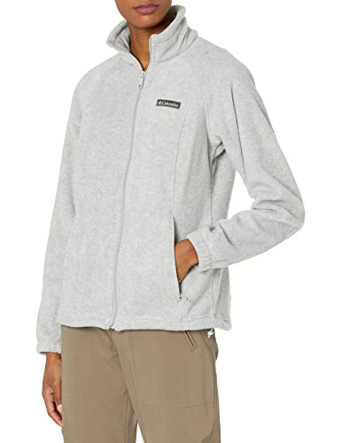 Columbia womens Benton Springs Full Zip Fleece Jacket, Cirrus Grey Heather, Large US