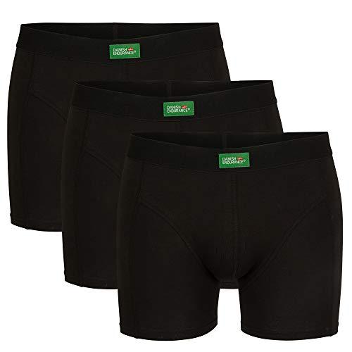 DANISH ENDURANCE Boxershorts aus Bio-Baumwolle (Schwarz - 3 Pack, Large)