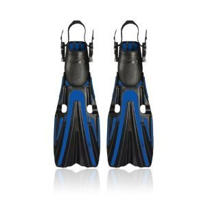 Mares Volo Power Open Heel Scuba Flossen Blau/Grau Regular by