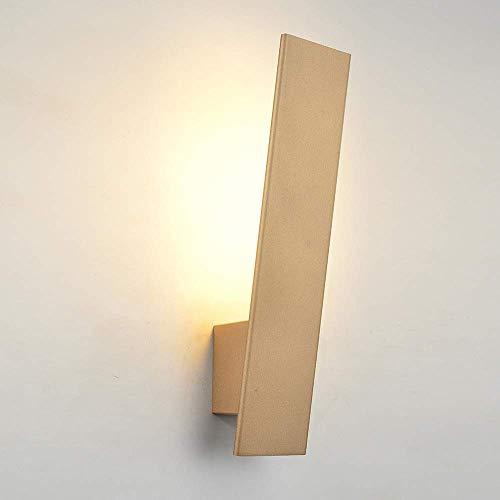 YANQING Lámpara LED de pasillo pasillo pasillo pasillo Dormitorio Moderno minimalista Dormitorio Wall Illuminate Your Life (Color: Negro), Color: Negro (Color : Oro)