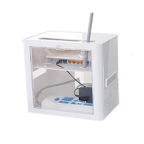 Enrutador WiFi inalámbrico Caja de almacenamiento Caja de almacenamiento Enrutador Rack WiFi inalámbrico, panel de conexión Cable de alimentación Caja superior Caja de montaje en pared