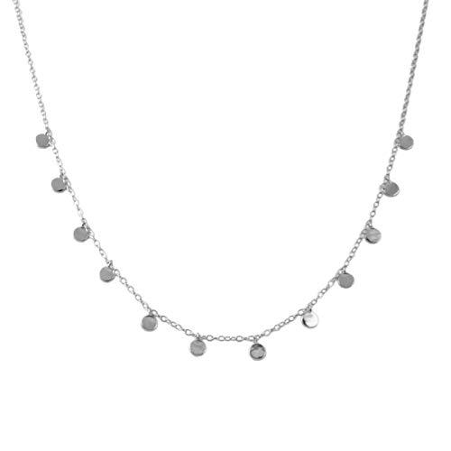 Collar De Plata Con Luna Y Estrellas Para Mujer,Joyería Con Perlas, Cadena De Diamantes De Fantasía K