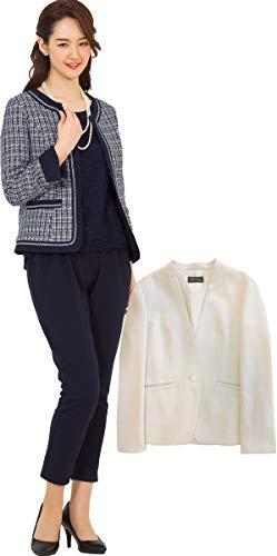 [アッドルージュ] スーツ レディース パンツスーツ ジャケット2点付き セレモニースーツ ノーカラー カラー...