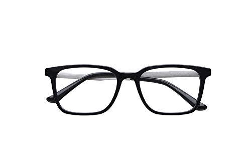 ピントグラス シニアグラス(老眼鏡1本で度数 +0.0D 〜 +1.75Dの累進設計) 定番のウェリントンタイプ ネイビー