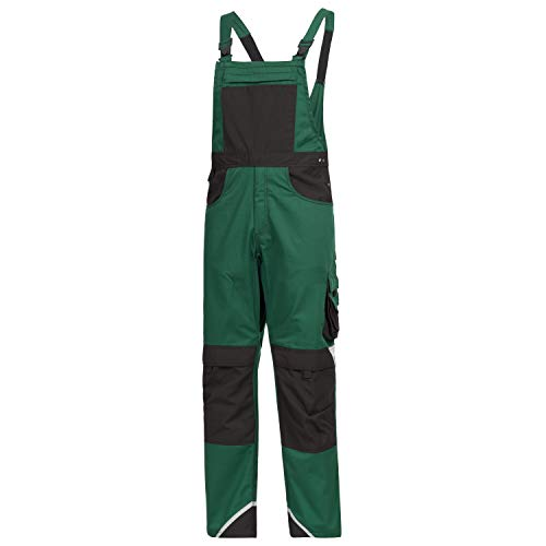 Nitras Motion Tex Plus Latzhose - Arbeitshosen lang für Herren & Damen - Arbeitskleidung Bundhose Arbeitshose Arbeitsbundhose - Grün Größe 102