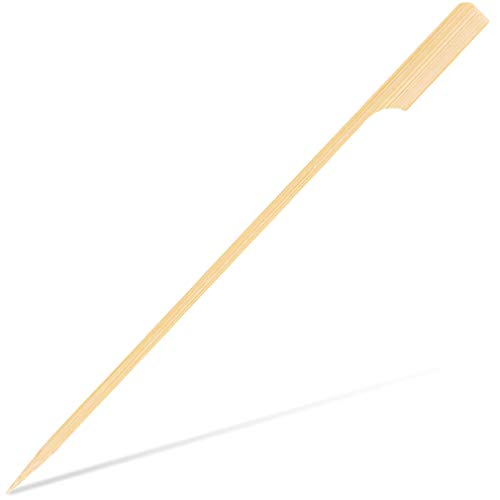 Paquete de 200 pinchos de bambú Kabob – Palillos de madera de 7 pulgadas, pinchos de parrilla, palillos de barbacoa