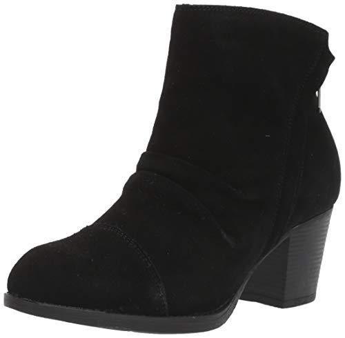 Skechers Damen TAXI - UPTOWN FUNK - Suede Ruched Short Ankle Boot with Side Zipper Stiefelette, Schwarz, 39.5 EU