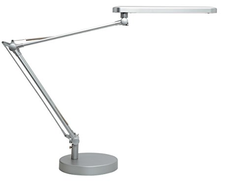 Unilux Lámpara Sobremesa Led Mambo Gris Metalizada, 4.2 W, Plateado