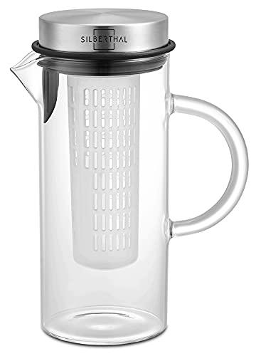 Silberthal -   Glaskaraffe mit