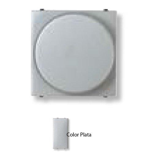 Niessen zenit - Regulador giratorio para fluorescente.serie zenit plata