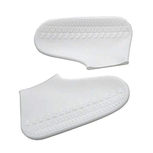 1 par de zapatos de lluvia reutilizables de látex impermeables, fundas de goma antideslizantes para botas de lluvia S/M/L (color: W, tamaño: mediano)