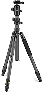 National Geographic Travel Photo Tripod Kit with Monopod, 90° column, Carbon Fibre, 4-Sections, Twist Locks, Load up 8kg, ...