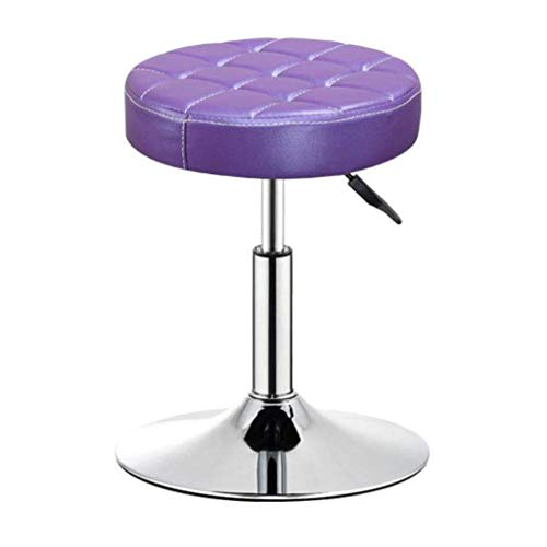 ZXL Barhocker Barhocker Retro Stuhl ergonomische Bar Drehbarer Sessellift Rotary Beauty Salon Massagestuhl Farbdruck Casual High Metal (Farbe: D)