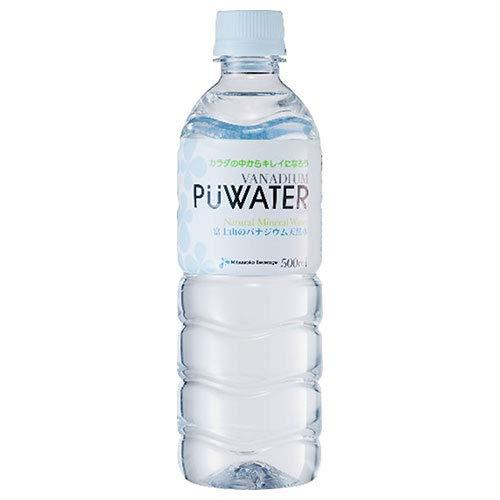 ミツウロコ PUWARTER(ピューウォーター) 富士山のバナジウム天然水 500mlペットボトル×24本入