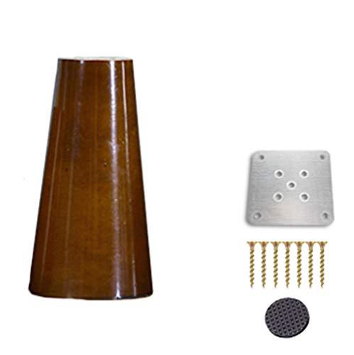 zj01123 - Patas de madera para sofá, silla, armario, mesa de té, mueble de TV, patas de madera de repuesto, 4 unidades