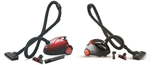 Eureka Forbes Quick Clean DX 1200-Watt Vacuum Cleaner for Home with Free Reusable dust Bag (Red) & Trendy Zip 1000-Watt Vacuum Cleaner (Black/Red) Combo