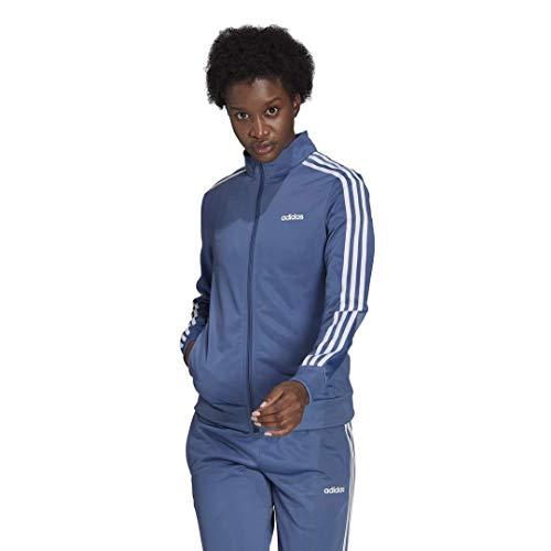 adidas Damen Essentials 3-Streifen Trainingsjacke, Damen, Jacke, FRV01, Crew Blue, Large