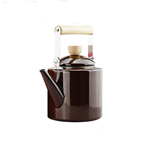 RBH Emaille Kaffeekanne handgemachte Teekanne, Herd Gasherd Wasserkocher, aus hochwertigen Materialien, sehr gut geeignet für Home-Office-Cafés