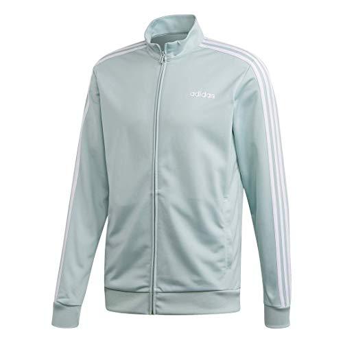 adidas Herren Essentials 3-Streifen Tricotot Trainingsjacke, Herren, Jacke, E 3s Tt Tric, Grün/Weiß, Large