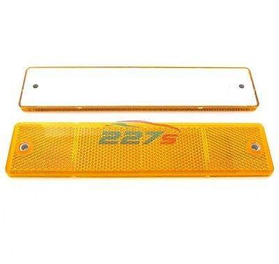 227s - Rechteckige große Reflektoren - Schraubbefestigung - Orange - 173 x 40mm - 2 Stück