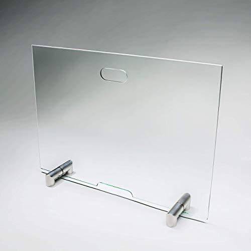 bijon® Funkenschutz Kamin aus Spezial-Sicherheitsglas | Design Hitzeschutz Kamin Funkenschutz Glas Funkenschutzgitter | M2 | HxB 700x900mm