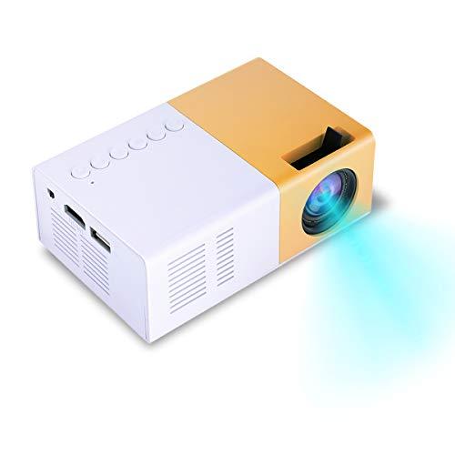 Yunir Proyector portátil, Mini 1500lm 1080P Alta Definición LED...
