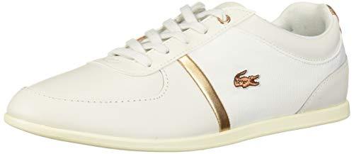 Lacoste Women's Rey Shoe, Off White/Cop, 8 Medium US