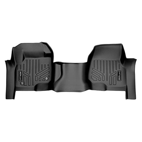 MAXLINER Floor Mats 1st Row Liner One Piece Black for 2017-2021 Ford F-250/F-350/F-450 Super Duty Crew Cab or SuperCab with 1st Row Bench Seat