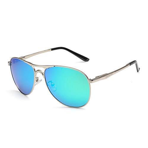 Yeeseu Gafas de sol polarizadas for hombre de las gafas de sol clásico vidrios de la pesca de conducción de la rana espejo gafas de sol gafas de moda (Color: Verde, Tamaño: Libre) Ciclismo, Correr, Pe